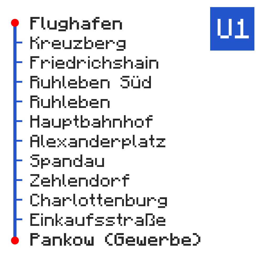 U-Bahn-Netz Berlin